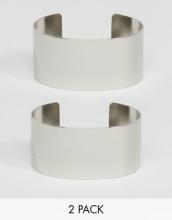 ASOS - Confezione da  2 bracciali rigidi minimalisti