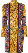 Versus Vintage - leopard print mini dress - women - Cotone/Polyimide/Spandex/Elastane - 42 - Multicolore