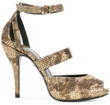 Just Cavalli - snakeskin effects sandals - women - Polyester/Goat Skin/Leather - 37, 38, 39, 40, 41 - Marrone