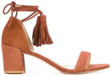 Stuart Weitzman - lace-up sandals - women - Calf Leather/Leather/rubber - 38, 38.5, 39, 40 - BROWN