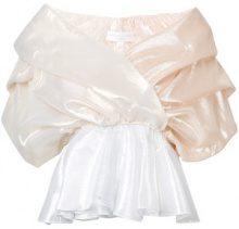 Caroline Constas - ruched taffeta blouse - women - Silk/Polyamide - XS, L - Metallizzato