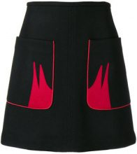 Nº21 - contrast pocket skirt - women - Polyester/Wool/Polyimide/Cashmere - 38, 42 - Nero
