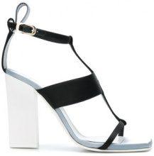 Lanvin - open-toe strappy sandals - women - Viscose/Silk/Goat Skin/Bos Taurus - 36, 38, 38,5, 39, 39,5, 40 - Nero