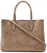Lanvin - Journée tote - women - Calf Leather/Polyester/Calf Suede - One Size - Color carne & neutri