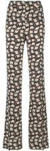 Prada - Pantaloni a vita alta stampati - women - Silk/Cupro - 42, 46, 38, 40, 44 - Nero