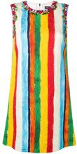 Dolce & Gabbana - embellished striped shift dress - women - Silk/Cotone/Polyamide/glass - 38, 40, 42, 46 - Giallo & arancio