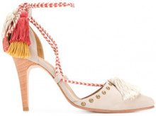 - Ulla Johnson - Valentina court shoes - women - Leather/Suede - 37, 38, 39 - Color carne & neutri