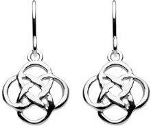 Heritage-Collana in argento Sterling con motivo a nodo celtico Orecchini pendenti