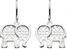 Dew 6500HP Orecchini pendenti, con talismano a forma di elefante, in argento Sterling