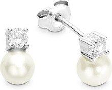 Amor 925 argento Finta perla bianco Zirconia cubica