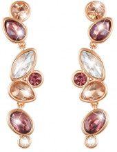 Orecchini in metallo rosato e pietre