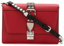 Prada - studded Elektra crossbody bag - women - Calf Leather - One Size - Rosso