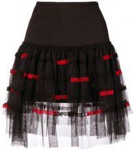 Pinko - tulle panel skirt - women - Cotone/Polyamide/Polyester - 38, 40, 42, 44 - Nero