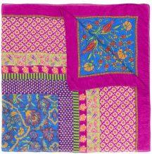 Etro - Sciarpa con motivo stampato - women - Modal/Linen/Flax - OS - Rosa & viola