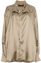 Y / Project - Camicia oversized - women - Silk - S, M - Color carne & neutri