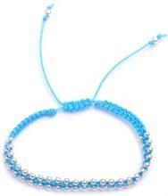 Adara perlina in argento e nero braccialetto dell' amicizia, Argento, colore: Blue