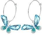 Arco Iris Jewelry 1061401 - Orecchini cristallo austriaco, motivo farfalla, colore: Blu e verde
