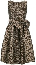 - P.A.R.O.S.H. - bow detail leopard print dress - women - fibra sintetica/acetato - S, M, XS - color marrone
