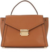 Borsa a mano Michael Kors Whitney M in pelle color cuoio
