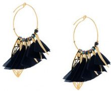 Gas Bijoux - Cerchi 'Marly' - women - 24kt Gold Plated Metal/glass/Feather - OS - Metallizzato