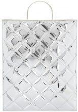 Marques'almeida - Borsa shopper trapuntata - women - Polyurethane/Polyester - One Size - Metallizzato