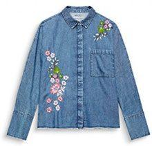 edc by Esprit 127cc1f003, Camicia Donna, Blu (Blue Medium Wash 902)