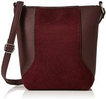 New Look Petra Bucket - Borse a spalla Donna, Rosso (Dark Burgundy), 8x22x18 cm (W x H L)