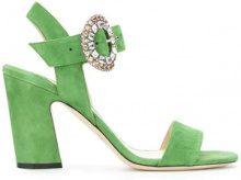 - Jimmy Choo - Mischa 85 sandals - women - Goat Suede/Calf Leather/Goat Skin/Rubber - 37, 34, 37.5, 38, 36, 39.5, 36.5 - Verde
