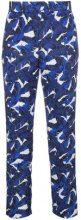 - MSGM - Pantaloni con stampa - women - fibra sintetica - 42, 44, 46, 38, 40 - di colore blu