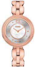 Fendi - Fendi My Way watch - women - Fox Fur/metal/Diamond - OS - Rosa & viola