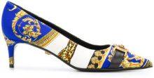 Versace - Medusa baroque pumps - women - Cotone/Leather - 38, 39, 40, 41 - BLUE