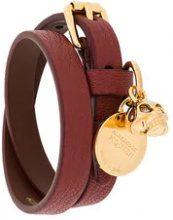 - Alexander McQueen - Bracciale con pendente - women - Goat Skin - Taglia Unica - Rosso
