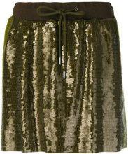 Alberta Ferretti - sequins embellished short skirt - women - Cotone/Acetate/Cupro/Polyester - 38, 40, 42, 46, 48 - Verde