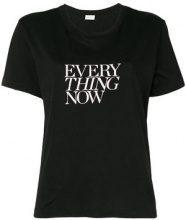 Saint Laurent - slogan short-sleeve T-shirt - women - Cotone - XS, S, M, L, XL, XXL - Nero