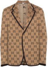 Gucci - Giacca di jersey con logo - men - Cotone/Cupro - 48, 50, 56 - NUDE & NEUTRALS