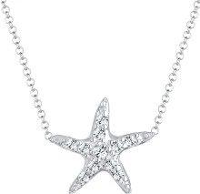Elli - Collana da donna con ciondolo a forma di stella marina, argento 925, cristalli bianchi con taglio a brillante - 0103652614_40