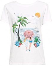 edc by Esprit 058cc1k034, T-Shirt Donna, Multicolore (White 100), Medium