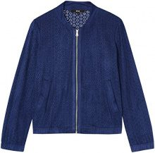 FIND Suedette Bomber  Giacca Donna, Blu (French Blue), 52 (Taglia Produttore: XXX-Large)