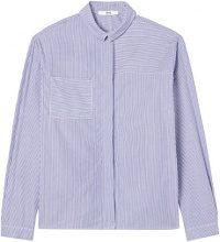 FIND Camicia a Righe Donna , Blu (Blue Stripe), 40 (Taglia Produttore: X-Small)