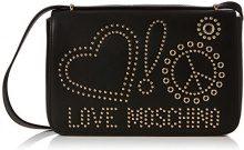 Love Moschino Borsa Calf Pu Nero - Galv.oro Borse a spalla Donna, (Black), 6x17x29 cm (B x H T)