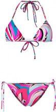 Emilio Pucci - triangle bikini - women - Polyamide/Spandex/Elastane - 40, 44 - PINK & PURPLE