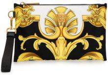 - Versace - Baroque print clutch - women - fibra sintetica - Taglia Unica - di colore nero