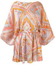 Emilio Pucci - printed cover-up - women - Silk - 40, 42, 44 - YELLOW & ORANGE
