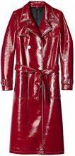 FIND Trench Effetto Lucido Donna , Rosso (Rot), 40 (Taglia Produttore: Medium)