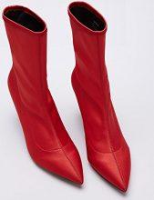 FIND Stivali Elasticizzati Donna, Rosso (Red), 40 EU