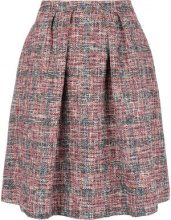 - Ps By Paul Smith - flared tweed skirt - women - acrilico/cotone/fibra sintetica/fibra sinteticafibra sintetica - 44 - di colore rosso