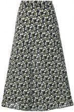 Marni - floral print skirt - women - Viscose - 40, 44, 38 - Nero