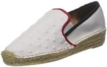Tommy Hilfiger Corporate Slip On Espadrille, Espadrillas Donna, Bianco (RWB 020), 38 EU