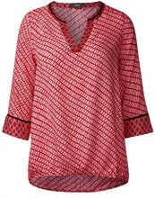 Cecil 340614, Blusa Donna, Rosso (Flame Red 20984), S