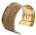81stgeneration Bracciale Donna Ottone Color Oro Largo Regolabile Bangle